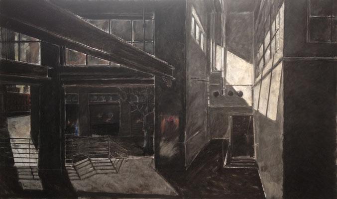 Pastell auf Papier / Grossstadt Amerika 2014 / 180 x 110 cm