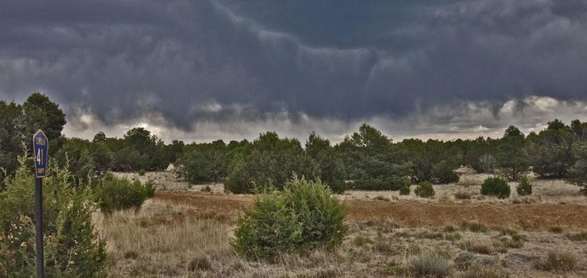 orage... dont la pluie s'évapore avant de toucher terre