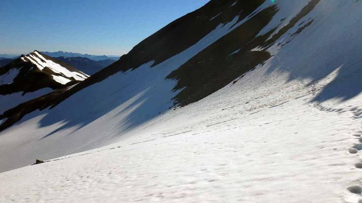 traversée sous le Mt Old Snowy: doucement!!