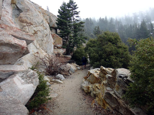 entrée dans les San Bernadino mountains