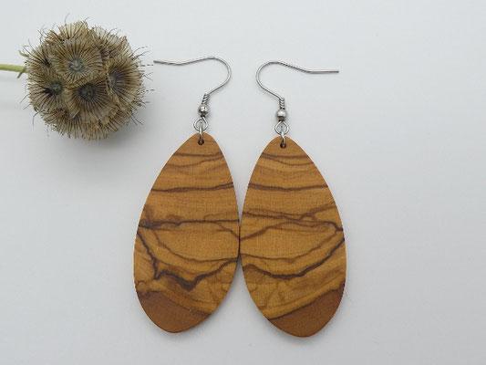 Ohrringe aus Olivenholz