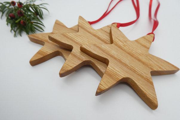Holzsterne aus Ulme