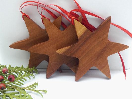 Holzstern aus Apfelholz