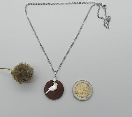 Halskette mit Anhänger aus Zwetschge & Vogel aus 925 Silber