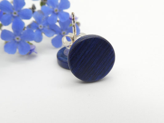 Ohrstecker 10 mm, blau