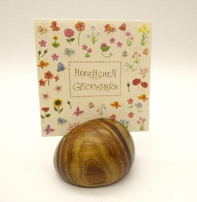 Kartenhalter aus Essigbaum