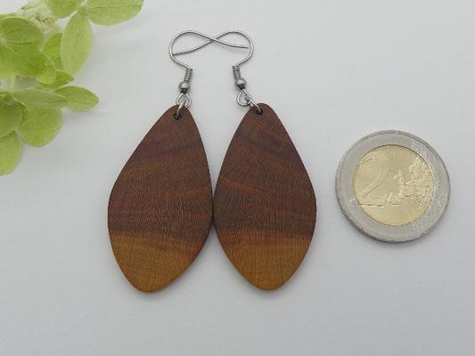 Ohrringe aus Holz, Zwetschge