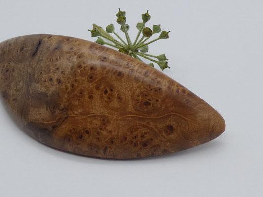 Haarspange aus Ahornmaserholz & mittelgroße Klammer