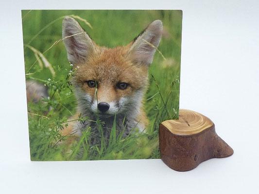 Kartenhalter aus Eibenholz