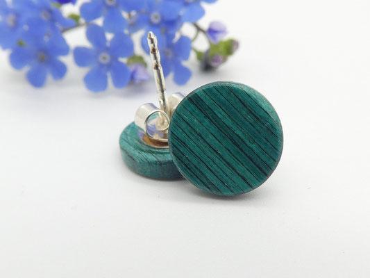 Ohrstecker aus  buntem Holz 10 mm