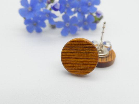 Ohrstecker 10 mm, ocker-braun