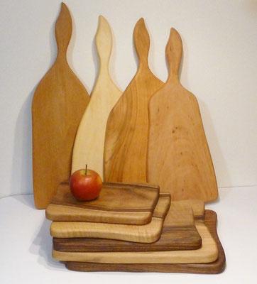 Schneidbretter aus verschiedenen Hölzern - Werkstatt Lebendiges Holz - Ralph Reinhold