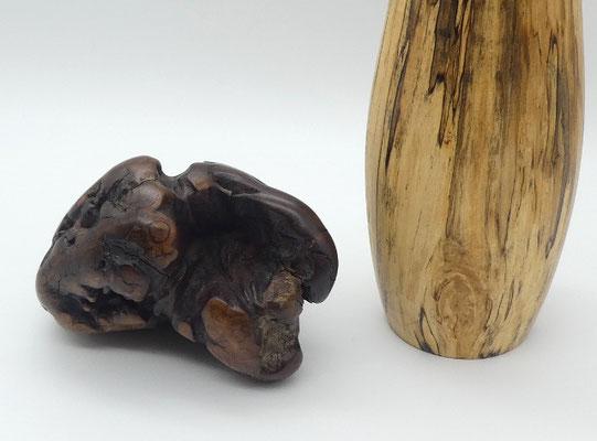 Handschmeichler aus Eukalyptuswurzelholz