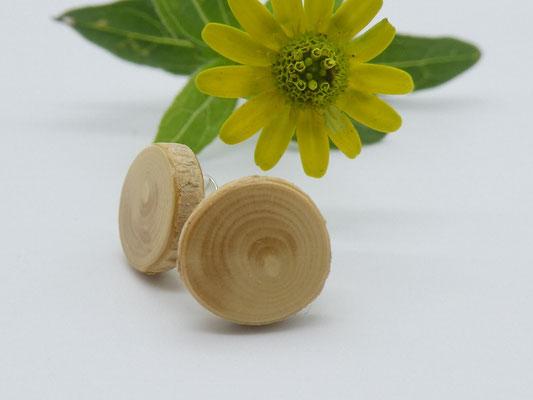 Ohrstecker aus Holz, Buchsbaum