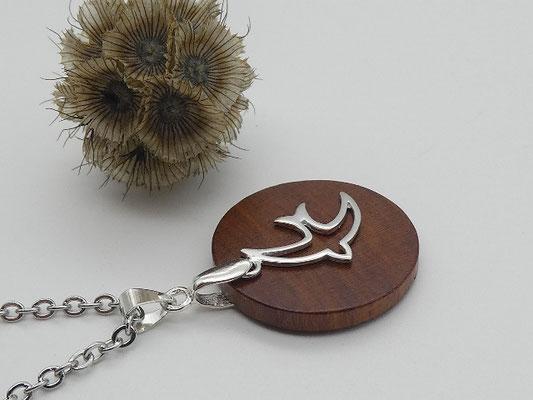 Halskette mit Anhänger aus Zwetschge & Schwalbe aus 925 Silber