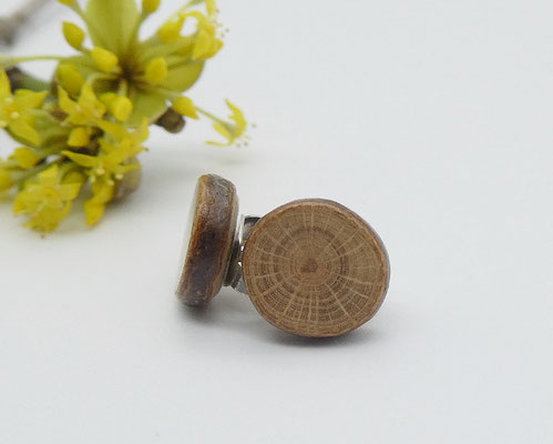 Ohrstecker aus einem australischen Strauch, 9 mm