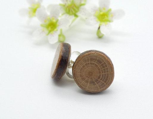 Ohrstecker aus Buche 9 mm