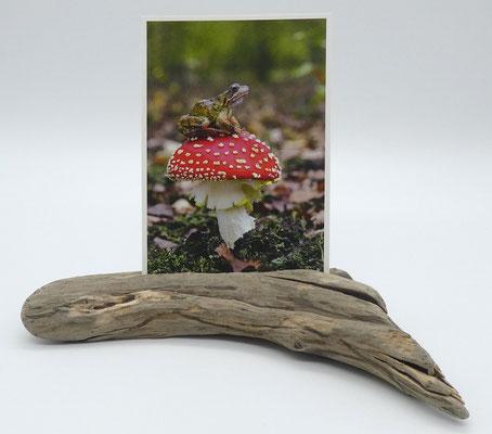Kartenhalter aus Treibholz