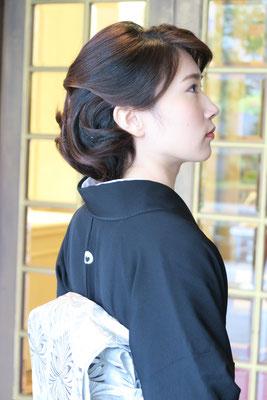 留袖和装ヘア