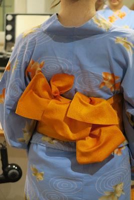 浴衣、帯結びアレンジ、銀座