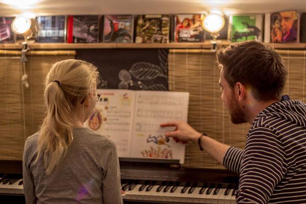 Musiktraining. Foto: Leon Ehmke
