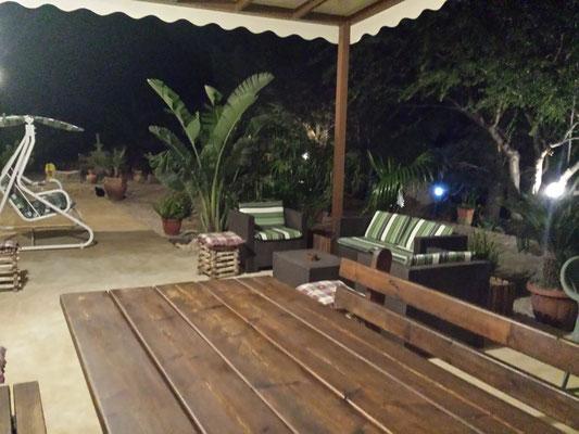 veranda notturna Suite di Segesta