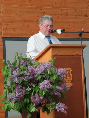 1. Vorsitzender des MGV Schwend Werner Prügel