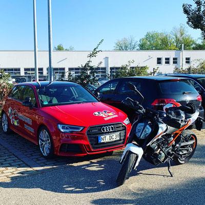 DC Fahrschule: Unser Motorrad für die Fahrstunden und die Fahrprüfungen der Führerscheinklasse A1. Die KTM Duke. Bild 2