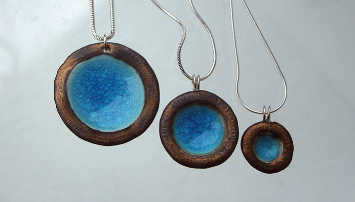 TROPICAL POOLS pendants Bronze/Turquoise