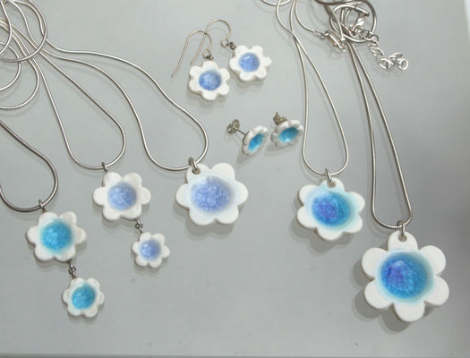 SUMMER FLOWER pendants & ear rings