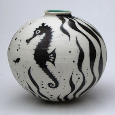 Seahorse jar