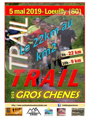 Trail des Gros Chênes - Le 22km au km2 (Loeuilly - dép80 - 9/22km - Dim05/05/2019)