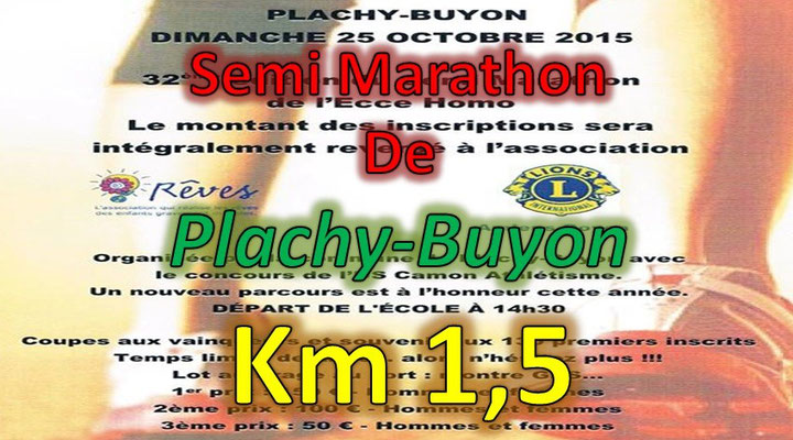 Semi Marathon de Plachy Buyon - km1,5 (dép80 - 21km - Dim25/10/2015)