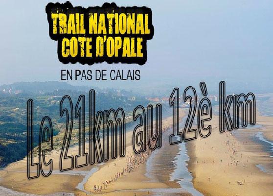 Trail de la côte d'Opale 2015 - Le 21km au 12è km (Wissant - dép62 - Dim13/09/2015)
