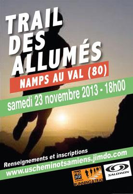 Trail des Allumés 2013, la course (Namps au Val - dép80 - 15km - Sam23/11/2013)