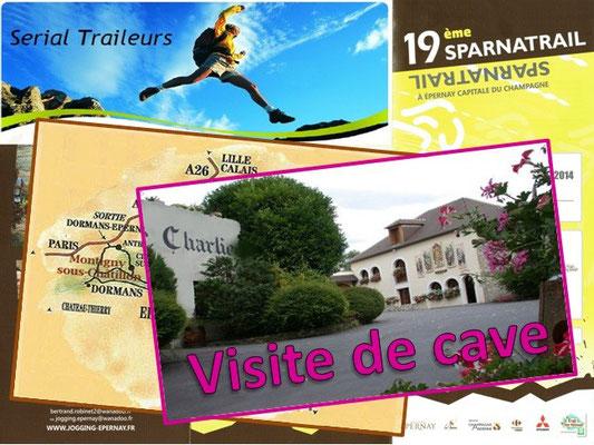 Sparnatrail 2014 - Visite de cave (Epernay - dép51 - 15/32/57km - Dim09/11/2014)