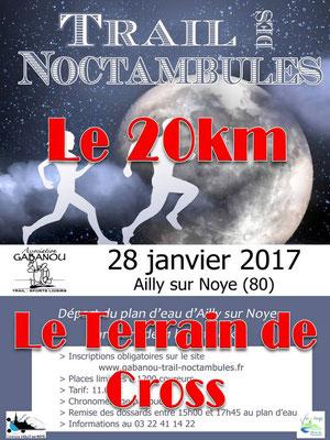 Trail des Noctambules - Au terrain de cross (Ailly/Noye - dép80 - 11/20km - Sam28/01/2017)