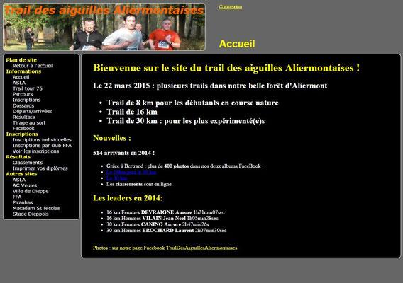 Trail des Aiguilles Aliermontaises 2015 (St Nicolas d'Aliermont - dép76 - 8/16/30km - Dim22/03/2015)