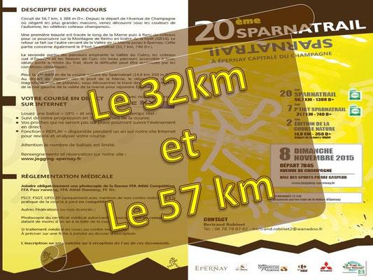 Sparnatrail 2015 (Epernay - dép51 - 15/32/57km - Dim08/11/2015)