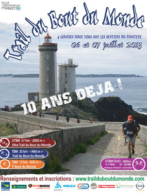 Trail du bout du monde (Plouzané - dép29 - 15/37/57km - Sam06/Dim07/07/2013)