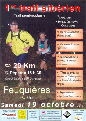 Trail Sibérien (Feuquières - dép60 - 20km - Sam19/10/2013)