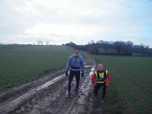 Reconnaissance à Fréchencourt avec Martin (dép80 - 28km - Dim19/01/2014)