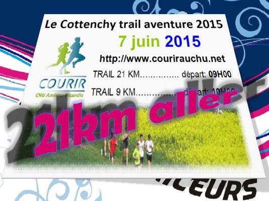 Trail de Cottenchy 2015 - 21km aller (dép80 - Dim07/06/2015)