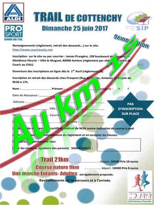 Trail de Cottenchy - Au km15 (dép80 - 9/21km - Dim25/06/2017)
