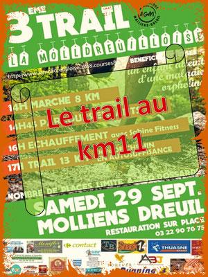 La Molldreuilloise, le trail au km11