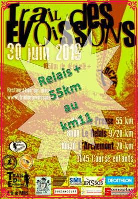 Trail des Evoissons - Relais&55km au km11 (dép80 - 9/20/55km - Dim30/06/2019)
