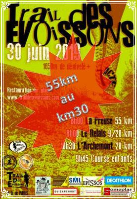Trail des Evoissons - 55km au km30 (dép80 - 9/20/55km - Dim30/06/2019)