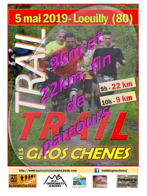 Trail des Gros Chênes - 9km et 22km, fin de parcours (Loeuilly - dép80 - Dim05/05/2019)