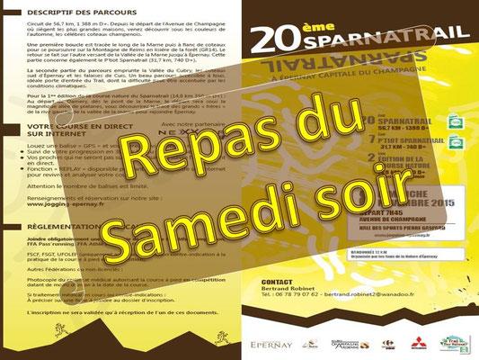 Sparnatrail 2015 - Repas du samedi soir (Epernay - dép51 - 15/32/57km - Dim08/11/2015)