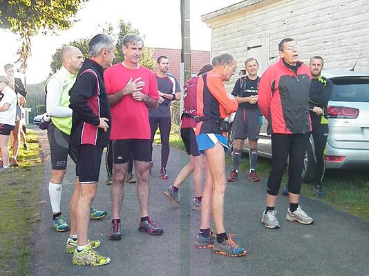 Reco Trail des Allumés avec Martin (Namps au Val - dép80 - 15km - Sam18/10/2014)